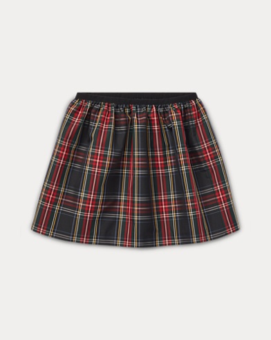 Tartan Plaid Pull-On Skirt