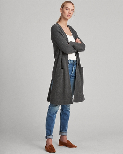 Wool-Cashmere Open Cardigan