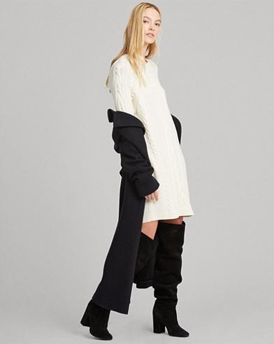 Pulloverkleid aus Aran-Strick