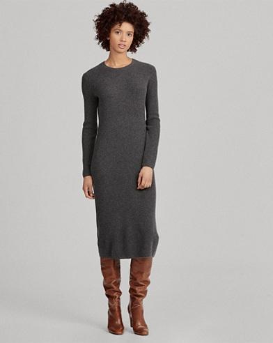 Abito in maglia di lana e cashmere