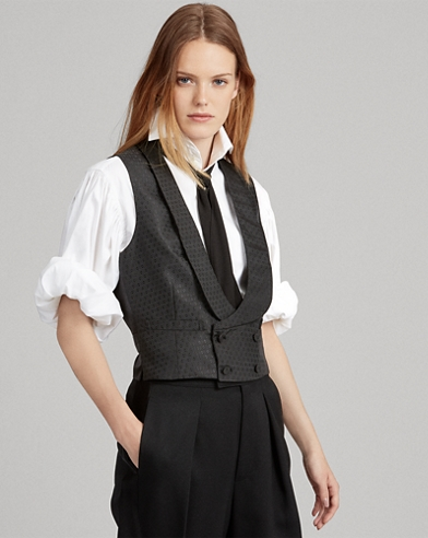 Jacquard Double-Breasted Vest