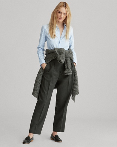 Wool Straight Pant
