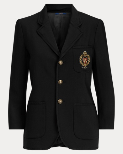 Embroidered Merino Blazer