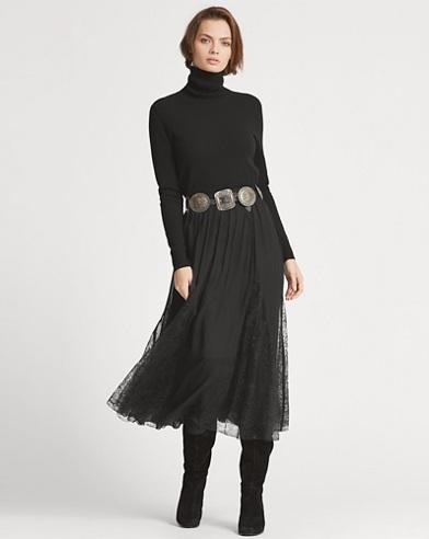 Embroidered Silk Midi Skirt