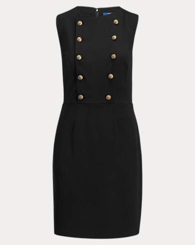 Twill Double-Breasted Dress