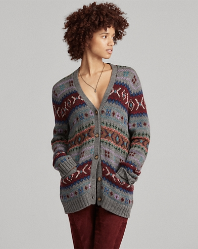Fair-Isle-Wollstrickjacke