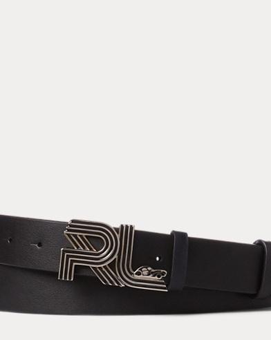 Ceinture en cuir à plaque roadster