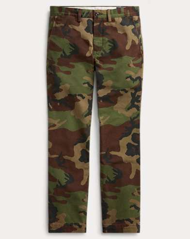 Slim Fit Camo Cotton Chino