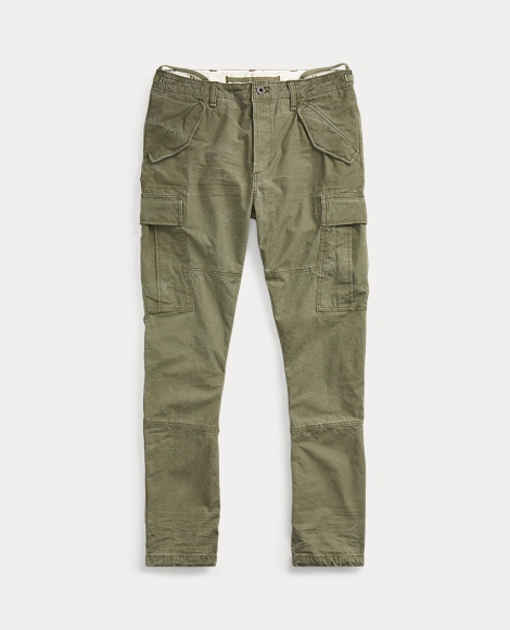 Tapered Cotton Cargo Pant