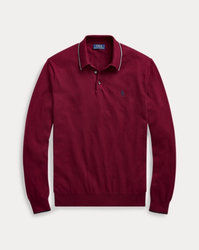 Polo-Pullover aus Baumwolle