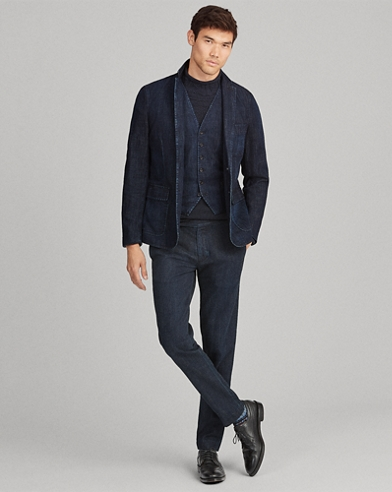 Morgan Denim Suit Jacket