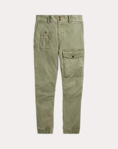 Pantaloni jogging in cotone stretch
