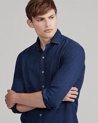 Slim Fit Indigo Twill Shirt