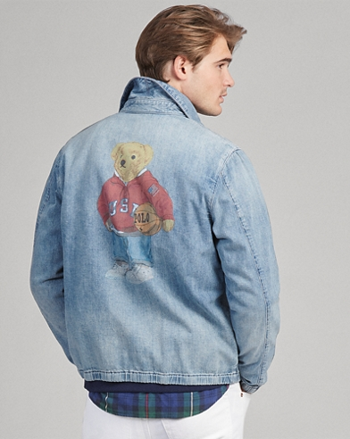 Polo Bear Denim Windbreaker