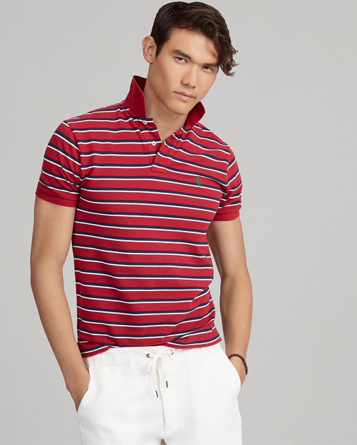 1f18087082c97 Slim Fit Mesh Polo Shirt   Ralph Lauren UK