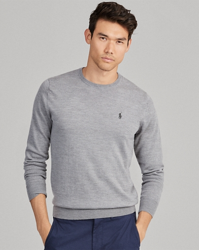 486dc390f031f Jersey con cuello redondo de lana de merino