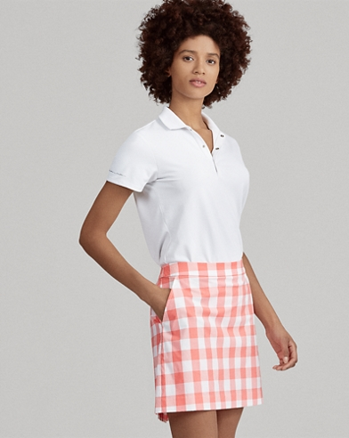 Moisture-Wicking Gingham Skort