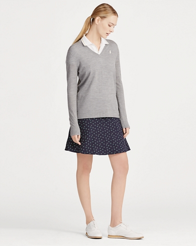 Gemusterter Stretch-Skort