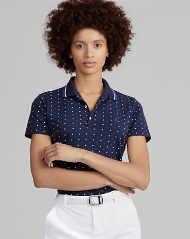 Polo a pois Tailored-Fit