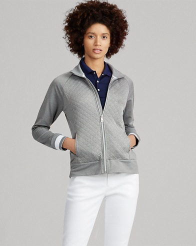 Quilted Mockneck Zip Jacket