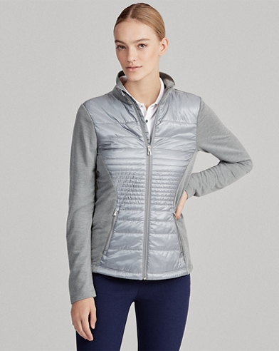 Quilted Wool Zip Jacket