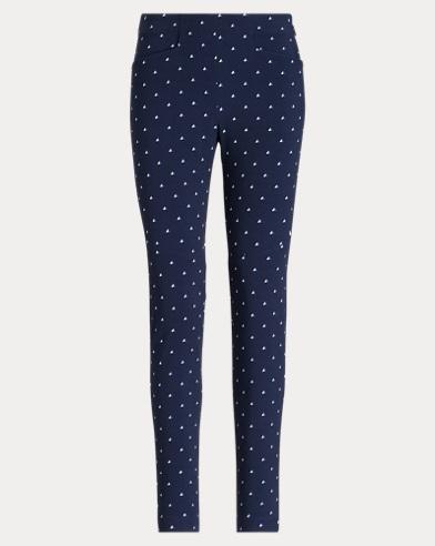 Print Twill Skinny Trouser