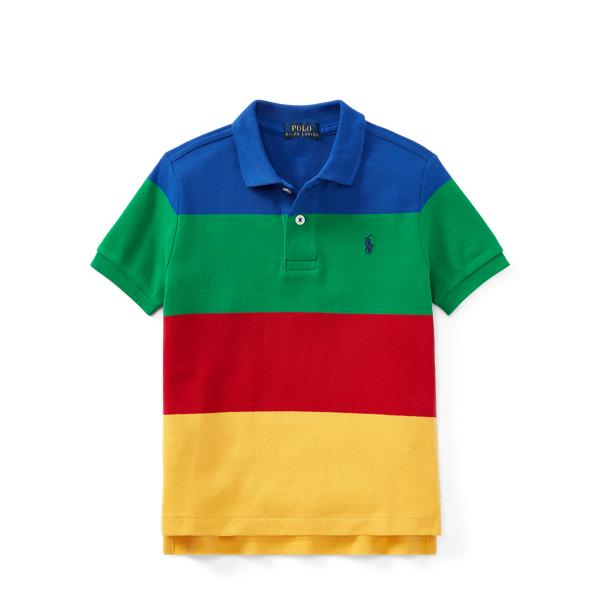 Ralph Lauren Cp-93 Cotton Mesh Polo Shirt Royal Multi 3T