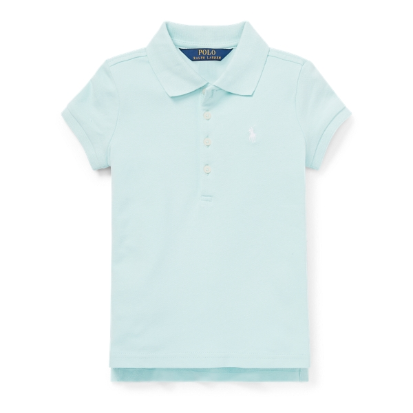 Ralph Lauren Stretch Mesh Polo Shirt Crystal Blue 2T