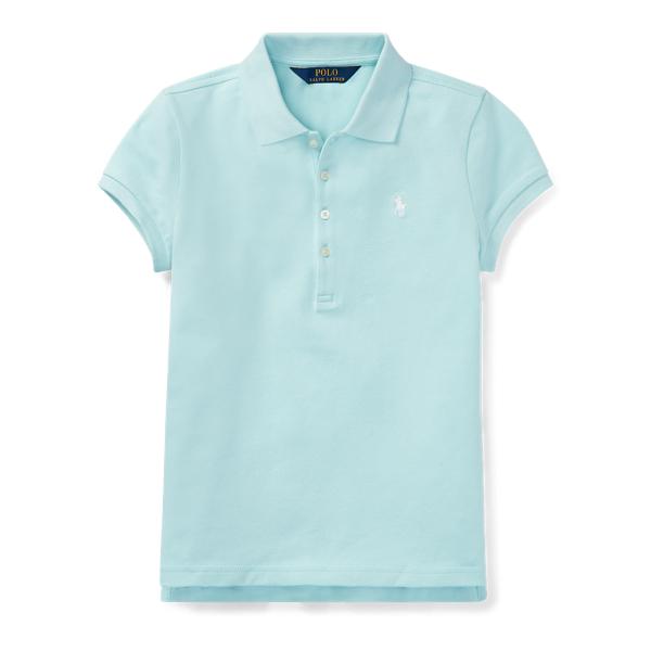 Ralph Lauren Stretch Mesh Polo Shirt Crystal Blue L