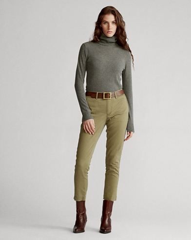 5b435eb236cb6c Pantalon droit en coton stretch. couleur (2)  Olive basique · Sable  luxueux. Polo Ralph Lauren