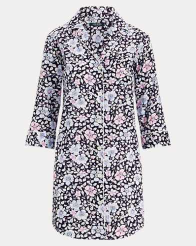 Floral Sateen Sleep Shirt