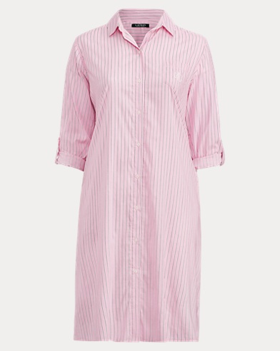Striped Sateen Sleep Shirt