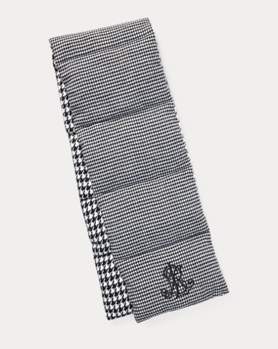 Houndstooth Puffer Scarf