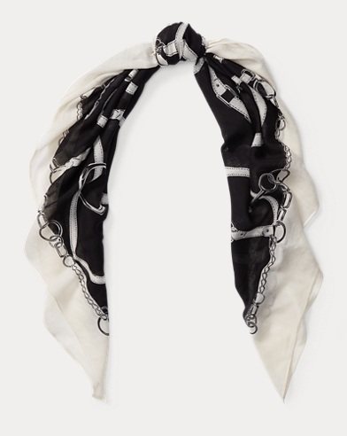 Bridle-Print Wool-Blend Scarf