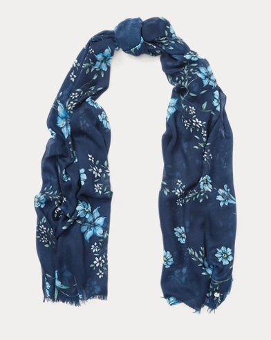Floral Long Scarf