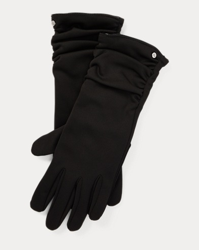 Ruched-Cuff Tech Gloves