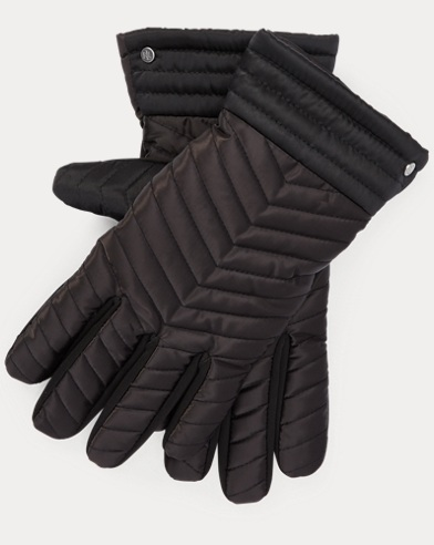 Chevron-Quilted Tech Gloves