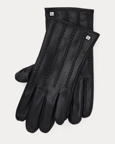 Stitched Leather Tech Gloves