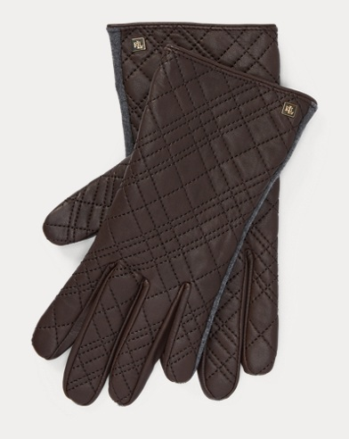 Quilted Leather Tech Gloves
