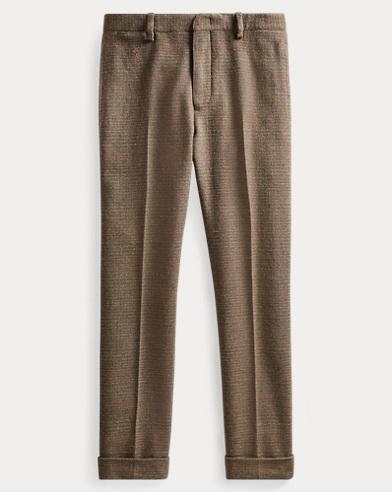 Slim Windowpane Suit Trouser