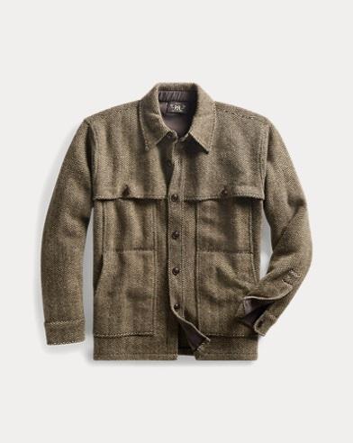 Wool-Blend Workshirt Sweater