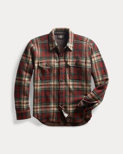 Plaid Knit Overshirt