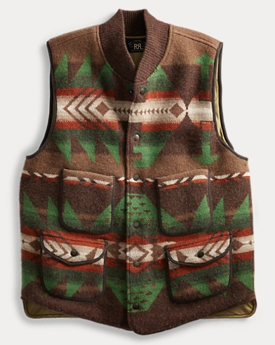Boiled Wool Jacquard Vest