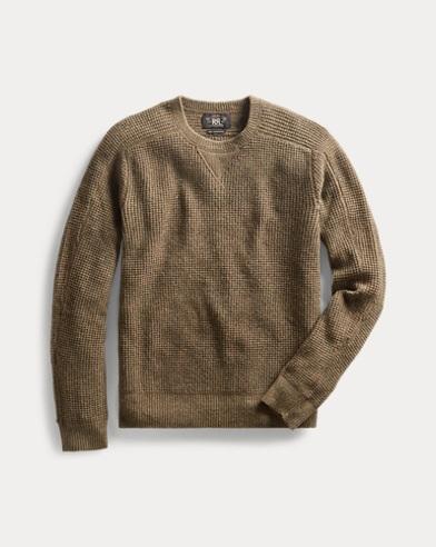 Waffle-Knit Cashmere Sweater