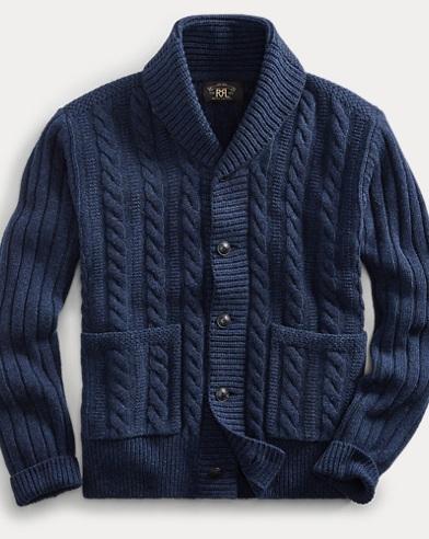 Cable-Rib Wool Cardigan