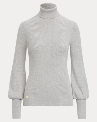 Ribbed Puff-Sleeve Jumper