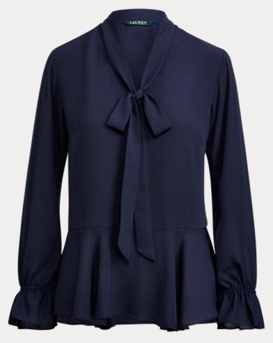 Georgette-Bluse mit Schleife