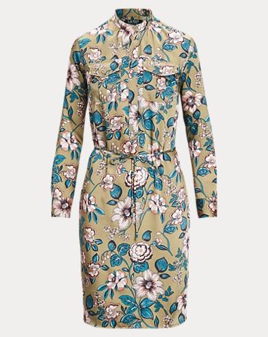 Twill-Hemdkleid mit Blumendruck