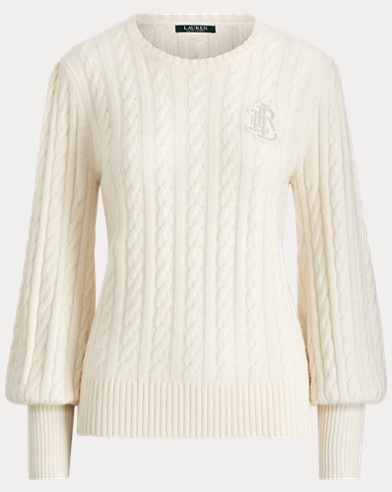 Crest Puff-Sleeve Sweater
