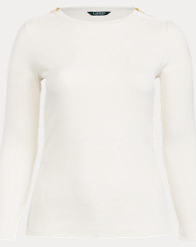 Zip-Trim Cotton-Blend Top